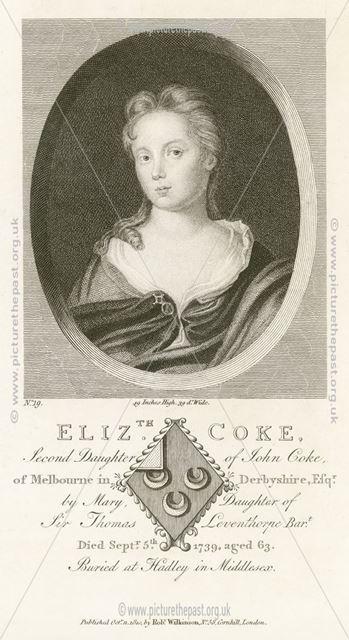 Elizabeth Coke (1676-1739), Melbourne Hall, Melbourne, 1810