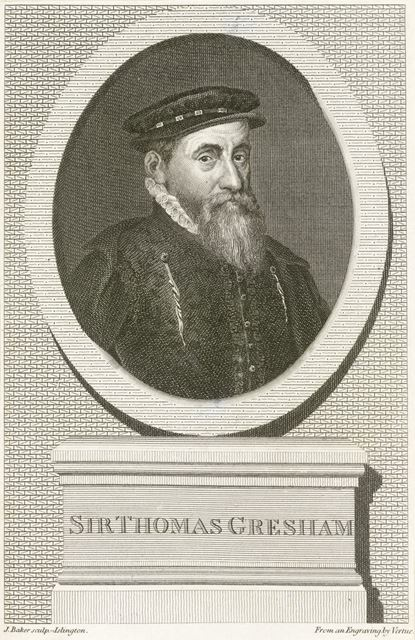 Sir Thomas Gresham (c 1519-1579), Founder of the Royal Exchange, Derby, c 1800?