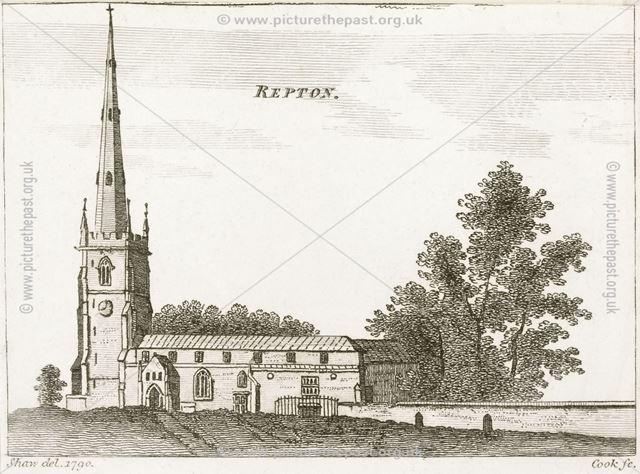 St Wystan's Parish Church, Repton, 1790