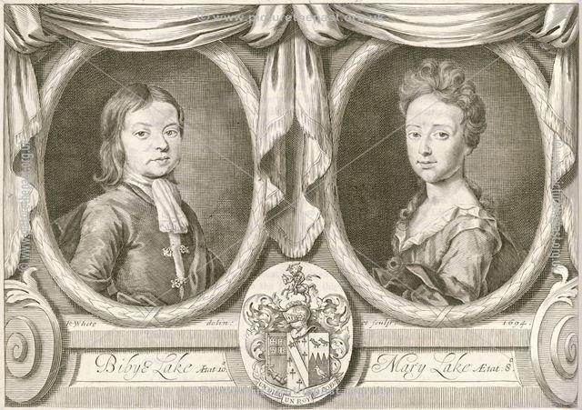 Bibye Lake (aged 10) and Mary Lake (age 8), 1694
