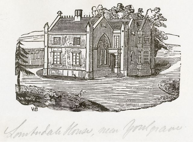 Lomberdale Hall, Middleton-by-Youlgreave, Bakewell, c 1844?