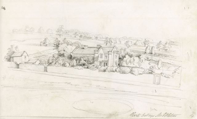 Lomberdale Hall, Middleton by Youlgreave, c 1844?
