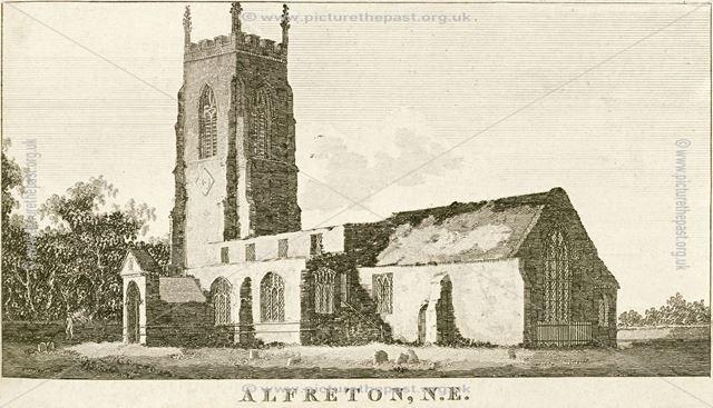 St Martin's Parish Church, Church Street, Alfreton, c 1794