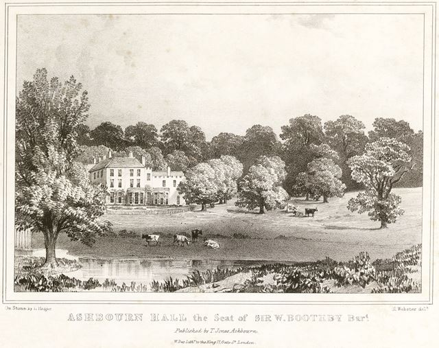 Ashbourne Hall, Cockayne Avenue, Ashbourne, c 1800?