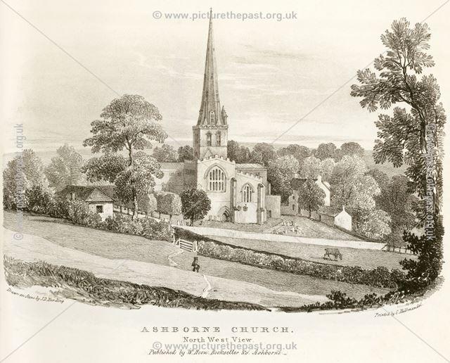 St Oswald's Parish Church, Church Street, Ashbourne, c 1800?