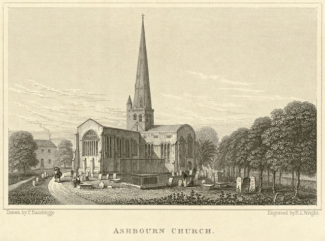 St Oswald's Parish Church, Church Street, Ashbourne, c 1800?