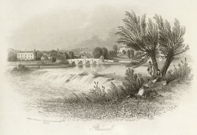 River Wye and Bakewell Bridge, Bakewell, 1840
