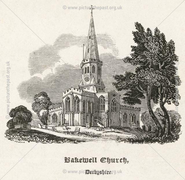 All Saint's Church, Bakewell, c 1850?