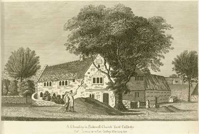 A Chantry in Bakewell Church Yard, All Saint's Church, Bakewell, 1781