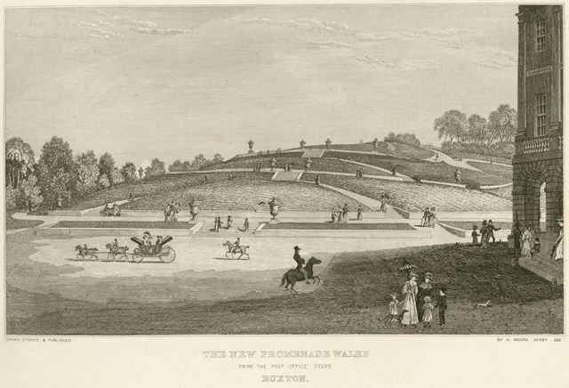 The New Promenade Walks, The Crescent, Buxton, c 1800