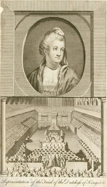 Representation of the Trial of the Duchess of Kingston, Westminster Hall, 1776