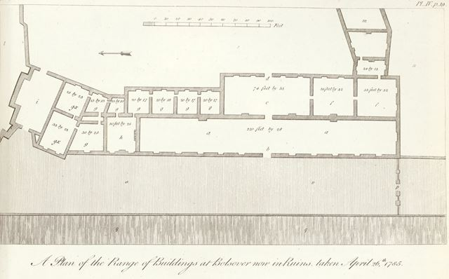 Plans of Bolsover Castle, Castle Lane, Bolsover, 1785