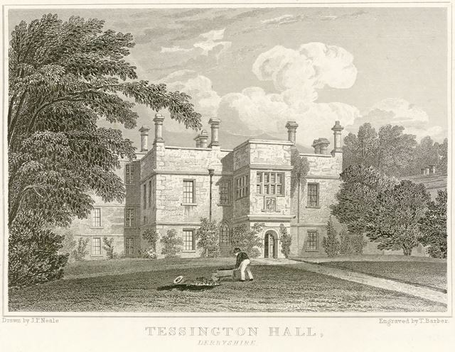 Tessington (Tissington) Hall, Tissington, c 1700?