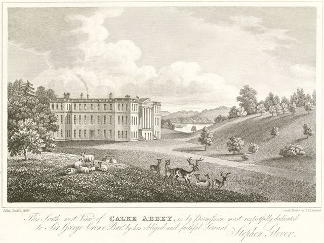 South west view of Calke Abbey, Calke, c 1852