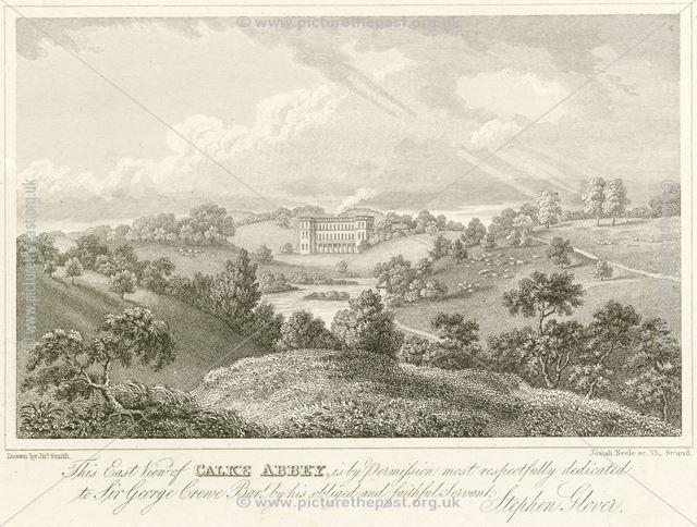 East view of Calke Abbey, Calke, c 1852