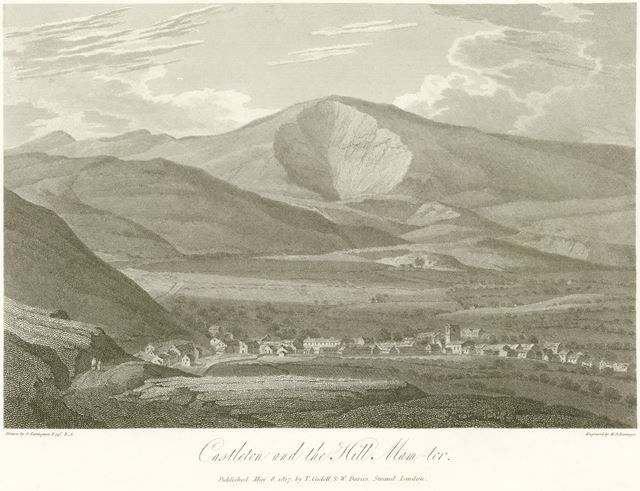 'Castleton and the Hill Mam Tor', Castleton, 1817