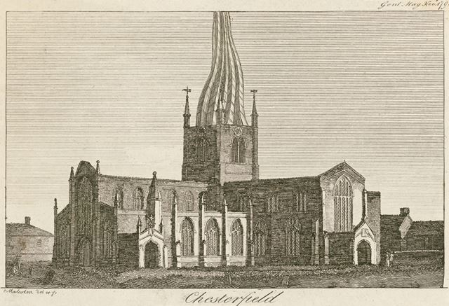 St Mary and All Saints Church, St Mary's Gate, Chesterfield, c 1790s