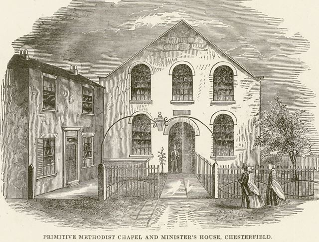 Primitive Methodist Chapel and Minister's House, Markham Road, Chesterfield, c 1840s