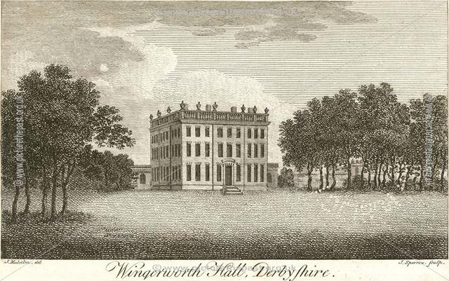 Wingerworth Hall, Off Hockley lane, near Hanging Banks, Wingerworth, c 1800?