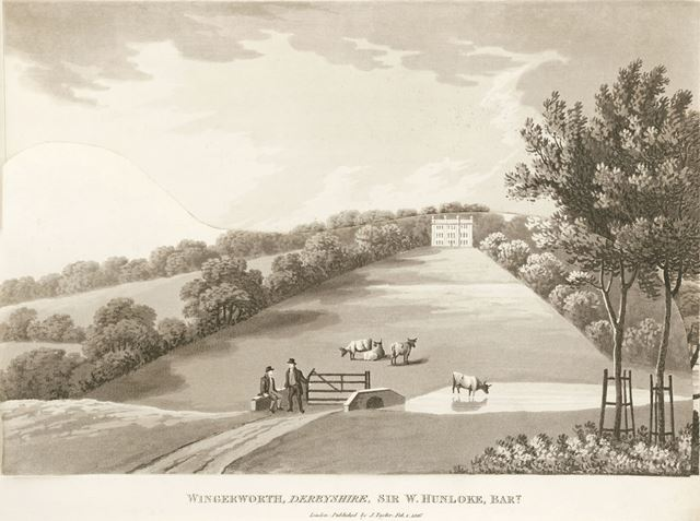 Sir W Hunloke Bart, Wingerworth Hall, Off Hockley lane, near Hanging Banks, Wingerworth, 1816
