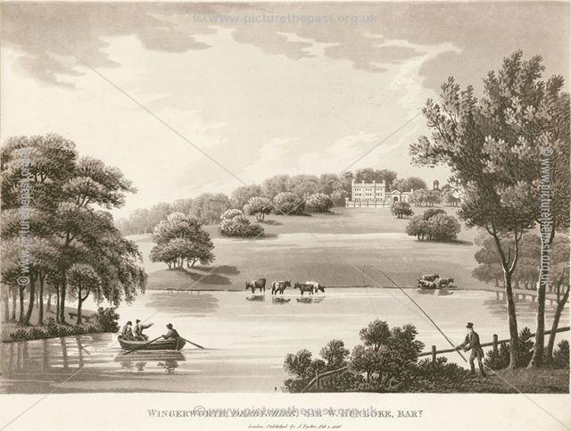 Sir W Hunloke Bart, Wingerworth Hall, Off Hockley lane, near Hanging Banks, Wingerworth, 1816