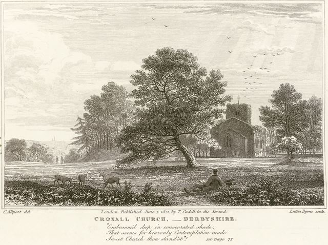 St John the Baptist Church, Croxall, Staffordshire, 1821