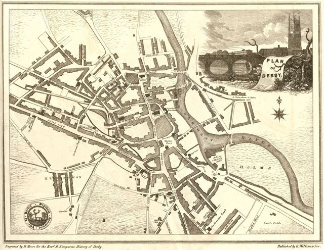 Plan of Derby, post 1750
