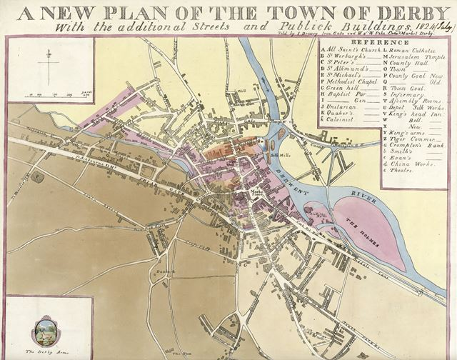 A new plan of the town of Derby, 1824