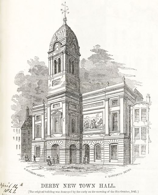 The Guildhall 'Town Hall', Market Place, Derby, 1842