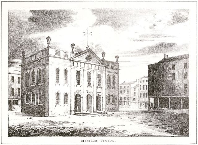The Guildhall 'Town Hall', Market Place, Derby, c 1730s?
