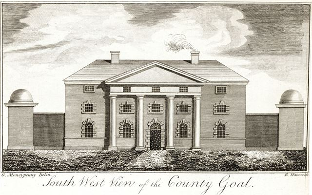 South West view of the County Gaol, Friar Gate, 1826