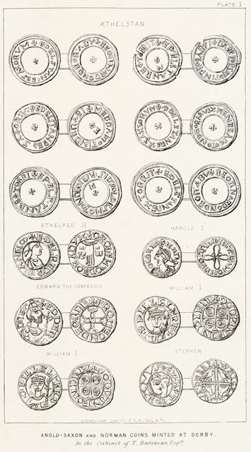Anglo-Saxon and Norman Coins minted at Derby, c 1800?