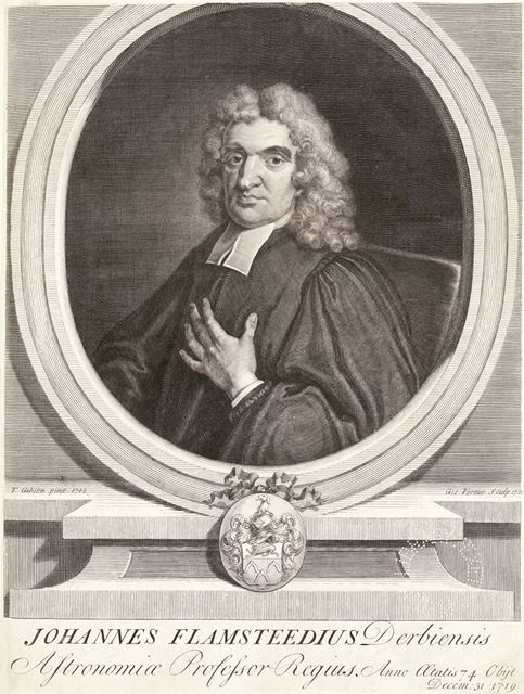 Johannes Flamsteedius Derbiensis or John Flamsteed (1646-1719), the first Astronomer Royal, 1712