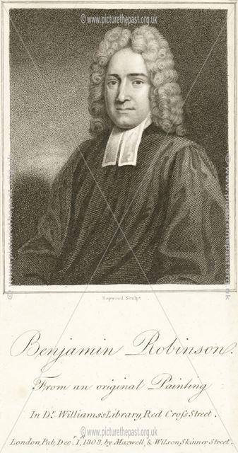 Benjamin Robinson (1666-1724), Findern, Derby, 1808