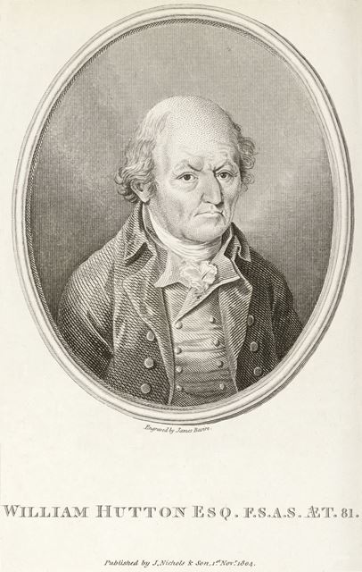 William Hutton (1723-1815) historian, aged 81, Derby, 1804