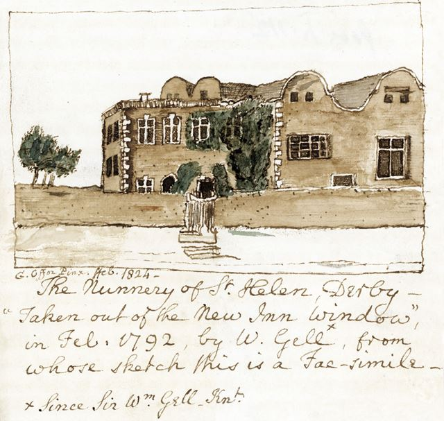 The Nunnery of St Helen, King Street, 1824