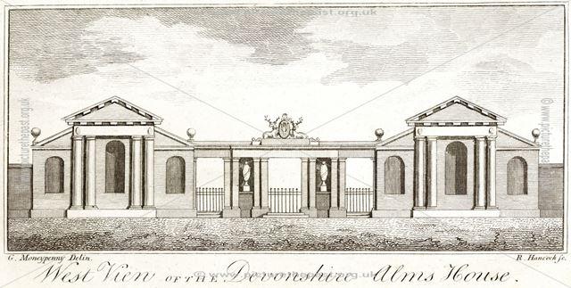 Devonshire Almshouses, Full Street, c 1777?
