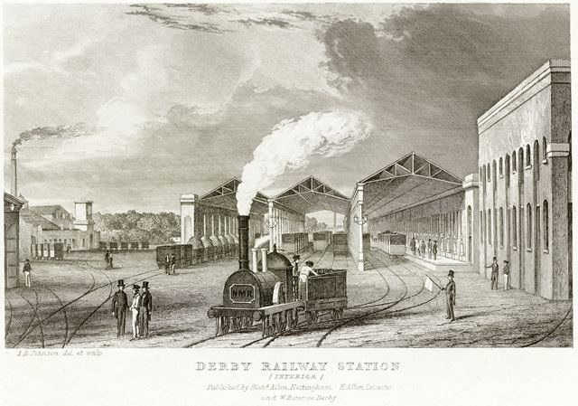 Derby Railway Station, Midland Road, c 1840