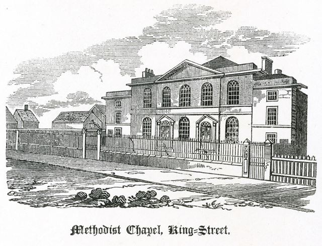 Wesleyan Methodist Chapel, King Street c 1826