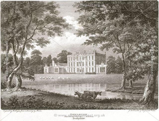North front of Osmaston Hall, Osmaston Park, Osmaston, 1811