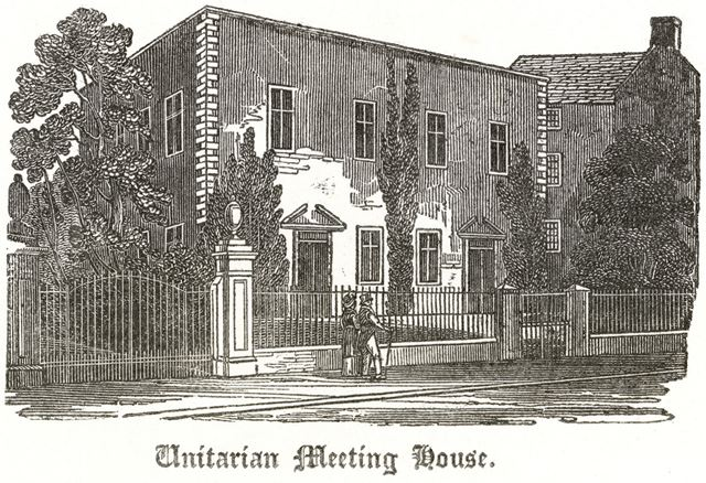 'Meeting House in Friar Gate' (Unitarian - Presbyterian Chapel), c 1790?