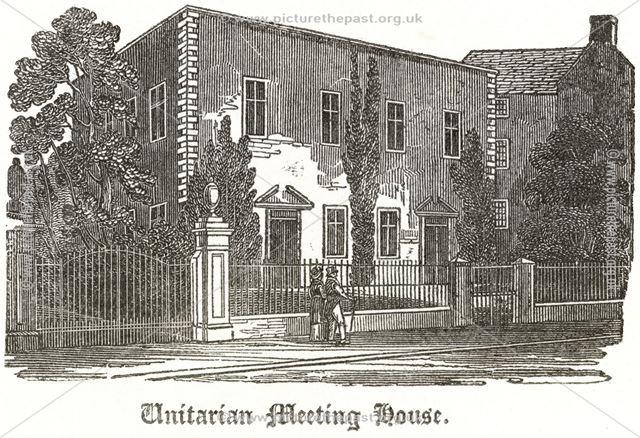 'Meeting House in Friar Gate' (Unitarian - Presbyterian Chapel), c 1790?
