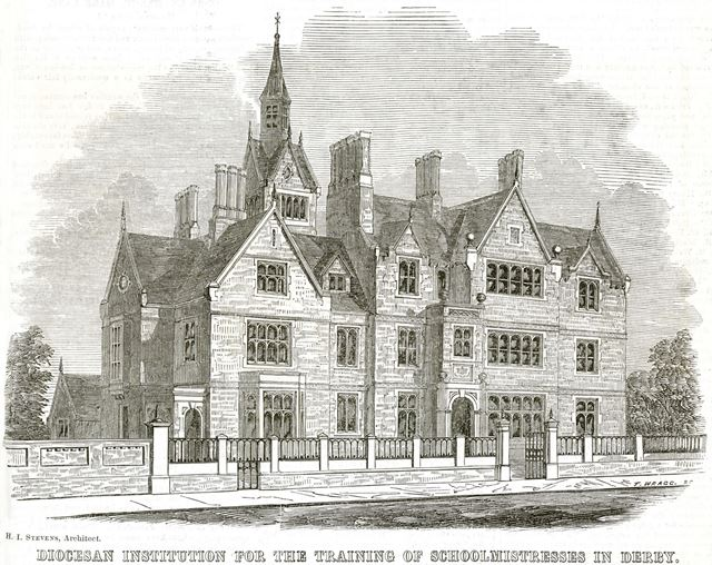 Diocesan Institution for the Training of Schoolmistresses in Derby, Uttoxeter Road, Derby, c 1850