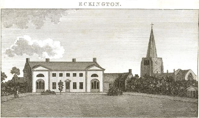 Rectory with St Peter and St Paul's Church, Church Street, Eckington, 1795?