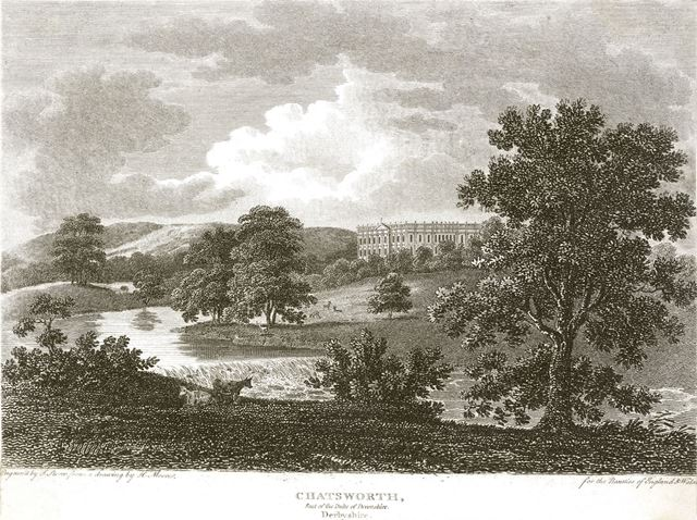 View of the Chatsworth Estate, c 1800?