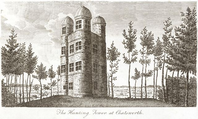 Hunting Tower, Chatsworth Estate, c 1825?