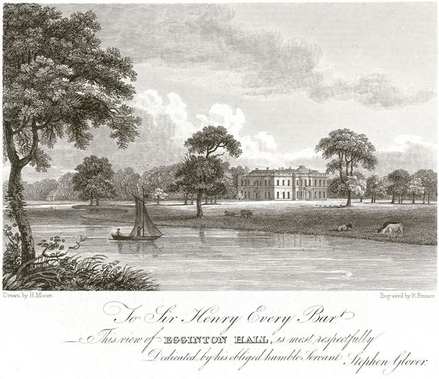 Egginton Hall, Egginton, c 1800?