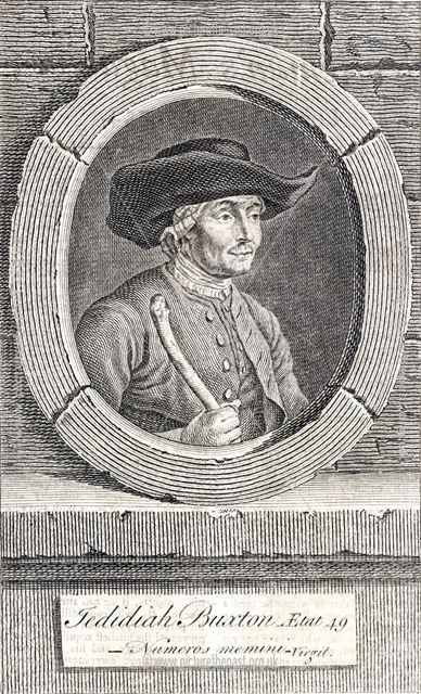Jedidiah (Jedediah) Buxton (1707-1772) aged 49, Elmton, near Bolsover, c 1756