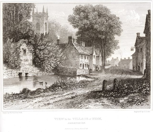 View in the Village of Eyam, c 1818