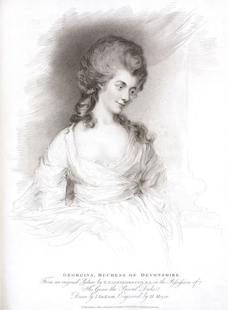 Her Grace, Lady Georgiana, Duchess of Devonshire, 1783